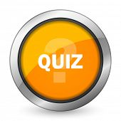 pic of quiz  - quiz orange icon   - JPG