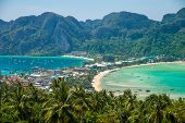 stock photo of phi phi  - Phi Phi Don view point  - JPG