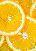 foto of orange  - fresh orange orange background Slices of orange - JPG