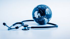 stock photo of globe  - Global healthcare - JPG