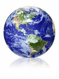stock photo of globe  - Earth globe cloud map - JPG