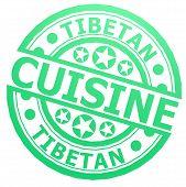 image of tibetan  - Tibetan cuisine stamp image with hi - JPG