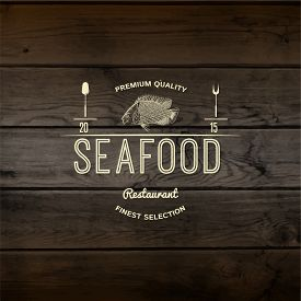 pic of logo  - Seafood badges logos and labels for any use - JPG