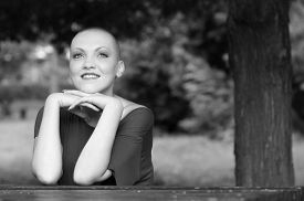pic of chemotherapy  - Happy and young cancer survivor after successful chemotherapy - JPG