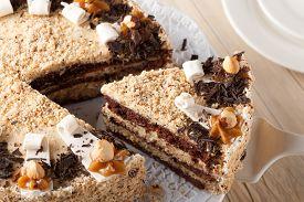 picture of torte  - Nut  chocolate cake - JPG