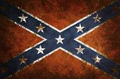 picture of confederate flag  - Vintage close - JPG