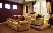 stock photo of high-def  - Luxury Home Theater - JPG