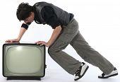 Постер, плакат: Человек Push ТВ выездная концепция