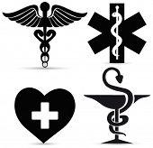Постер, плакат: Медицинские символы Вектор