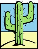 picture of semi-arid  - cactus in the desert - JPG