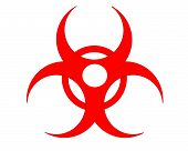 picture of biohazard symbol  - Computer generated image created using X3D and Adobe Photo Shop - JPG