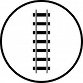 picture of train track  - railroad symbol - JPG