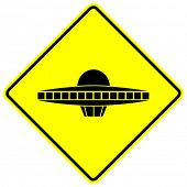 stock photo of ovni  - ufo ship sign - JPG