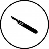 scalpel knife symbol