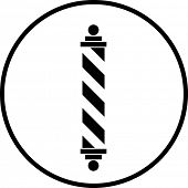 barber shop pole symbol