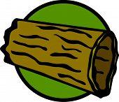 image of hollow log  - dead hollow trunk - JPG