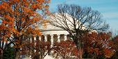 Jefferson Monument  In Autumn poster