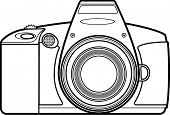 slr professional camera line art