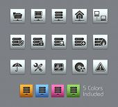 Network & Server // Satinbox Series -------It includes 5 color versions for each icon in different l