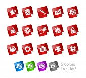 Web 2.0 Icons // Stickers Series -------It includes 5 color versions for each icon in different laye