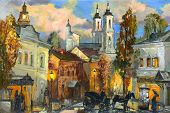 Old street in ancient Vitebsk