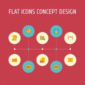 Set Of Website Icons Flat Style Symbols With Website Structure, Vector Tool, Website Text And Other  poster