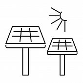 Solar Panel Icon. Outline Illustration Of Solar Panel Vector Icon For Web Design Isolated On White B poster
