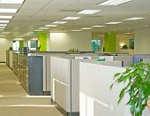 stock photo of business-office  - Corporate office settings showing desks - JPG