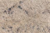 Burlap Texture Or Burlap Background. The Texture Of The Burlap Closeup. Natural Textured Burlap Sack poster