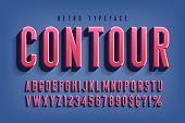 Condensed 3d Display Font Design, Alphabet, Letters poster