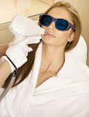 picture of beauty parlor  - Laser hair removal in professional beauty studio - JPG