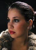 pic of budge  - Woman in fur posing - JPG