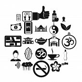 Asian Culture Icons Set. Simple Set Of 25 Asian Culture Vector Icons For Web Isolated On White Backg poster