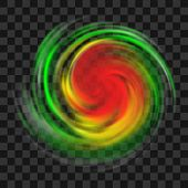 Hurricane Symbol With Intensity Indication, Tornado, Typhoon, Twister On Dark Transparent Background poster