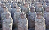 1000 arahan statues at  Gwaneumsa buddhist Temple at Jeju Island Korea