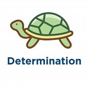 Persistence Icon W Image Of Extreme Motivation And Drive Set On Persevering poster