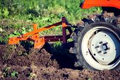 Tractor Plowing Fields -preparing Land For Sowing poster
