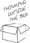 stock photo of thinking outside box  - Thinking outside the box - JPG
