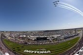 DAYTONA BEACH, FL - FEB 20:  The NASCAR Sprint Cup Series teams take to the track for the Daytona 50