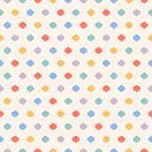 Cute Colorful Dots Seamless Pattern. Vector Geometric Texture With Small Confetti On Beige Backgroun poster