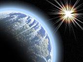 Постер, плакат: Планета с звездообразования
