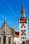The Altes Rathaus Of Munich, Germany (old Town Hall) Until 1874 The Domicile Of The Municipality. It poster