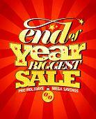 End of year biggest sale design, raster version poster