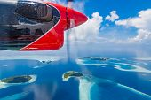 Perfect Maldives Landscape. Aerial View Of Tropical Island And Coral Reef, Atolls. Maldives Island B poster
