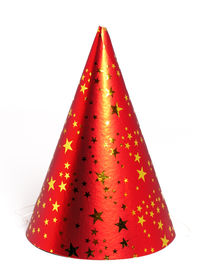 stock photo of birthday hat  - red party hat - JPG