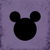 Постер, плакат: Фиолетовый гранж мышь