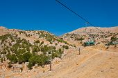 pic of golan-heights  - Ski Lift in the Golan Heights in the off Season - JPG