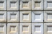 foto of cornerstone  - Stack of gray concrete blocks - JPG