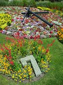 Flower Clock in the public park
