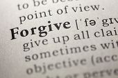 picture of forgiveness  - Dictionary definition of the word Forgive - JPG